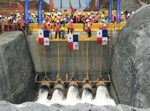 Panama Canal Locks Flooding